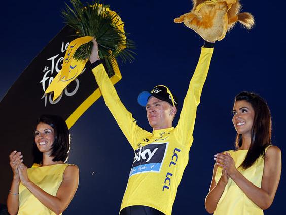 Chris Froome wears Oakley RadarLock Path winner of Tour De France