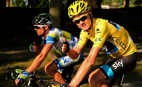 Chris Froome wears Oakley RadarLock Path winner of Tour De France 2013