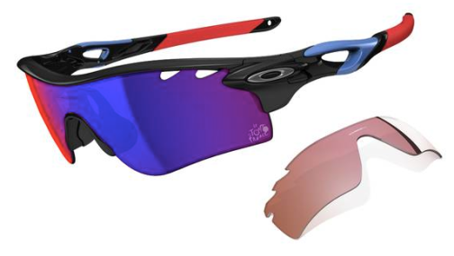 OAKLEY SPECIAL EDITION TOUR DE FRANCE RADARLOCK™ PATH™ SKU# OO9181-18 Color: Polished Black/Positive Red Iridium Vented & G40 Vented