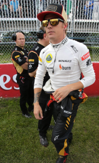 as seen on Kimi Raikkonen