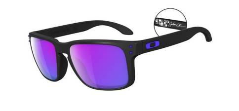 JULIAN WILSON SIGNATURE SERIES HOLBROOK™ SKU# OO9102-26 Color: Matte Black/Violet Iridium