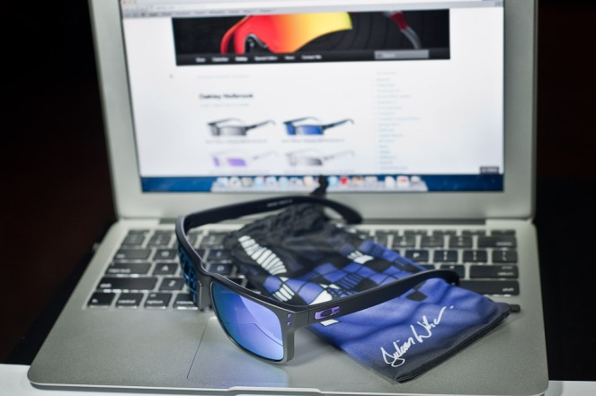 $250 Oakley JULIAN WILSON SIGNATURE SERIES HOLBROOK™ SKU# OO9102-26 Color: Matte Black/Violet Iridium