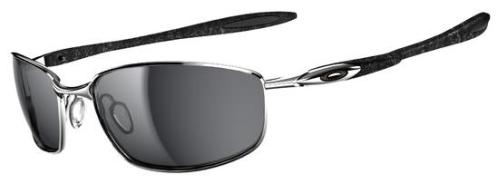 $280 OAKLEY BLENDER™ SKU# OO4059-02 Color: Chrome/Silver Ghost Text/Black Iridium