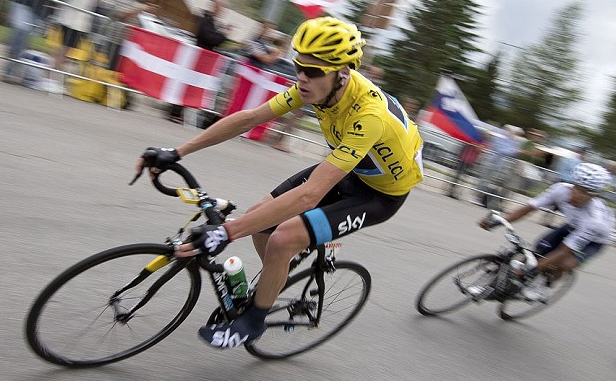 Chris Froome rides and win Tour De France 2013.