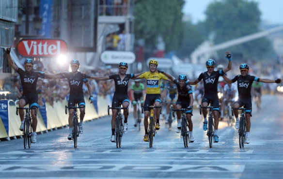 Chris Froome wins and his Sky team