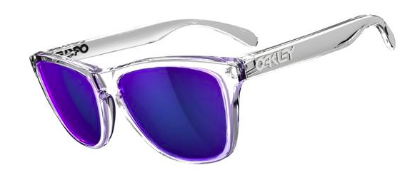 $190 Frogskins Polished Clear/Violet Iridium SKU# 24-305