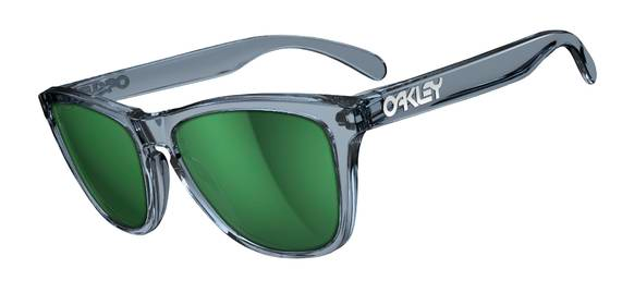 $190 Frogskins Crystal Black/Emerald Iridium SKU# 03-291