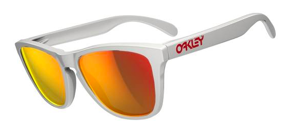 $190 Frogskins Polished White/Ruby Iridium SKU# 24-307