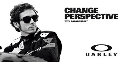 Valentino Rossi advert for Oakley Garage Rock
