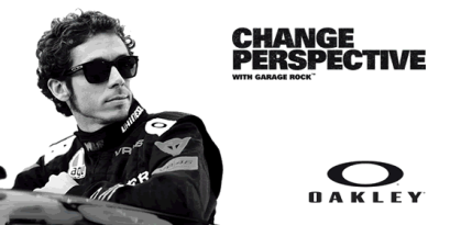 Valentino Rossi advert for Oakley Garage Rock
