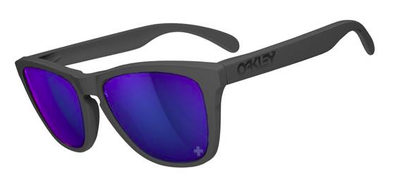 Oakley Infinite Hero Frogskins Collection SKU# 24-348 Carbon/Violet Iridium