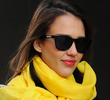 are oakley frogskins polarized ojby  Jessica Alba wears Oakley Frogskins