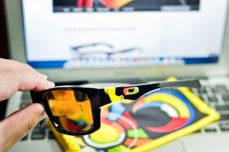 $250 Oakley Jupiter Squared Valentino Rossi Signature Series SKU# OO9135-11 Polished Black/Fire Iridium