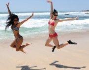 Nicole Scherzinger and Krysten Ritter wears Oakley Pamper and Beachwear Collection