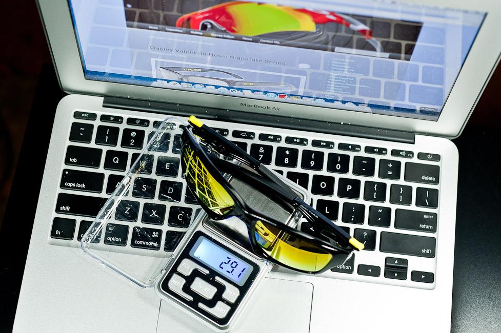 $250 Oakley Jupiter Squared Valentino Rossi Signature Series SKU# OO9135-11 Polished Black/Fire Iridium weight 29.1g