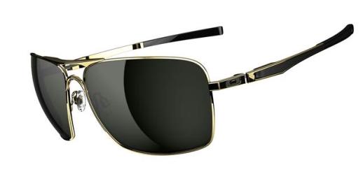 $260 Oakley Plaintiff Squared SKU# OO4063-02 Polished Gold/Dark Grey