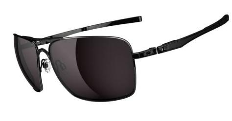 $260 Oakley Plaintiff Squared SKU# OO4063-01 Polished Black/Warm Grey