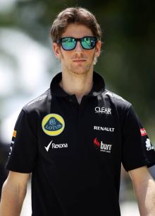 as seen on Romain Grosjean