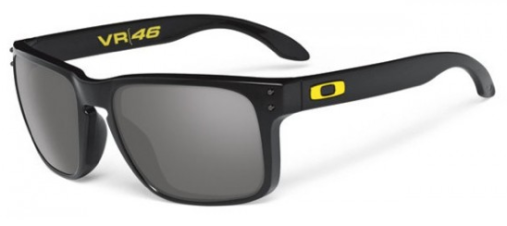 Oakley Holbrook Valentino Rossi Signature Series VR/46 Polished Black Sunglasses OO9102-21