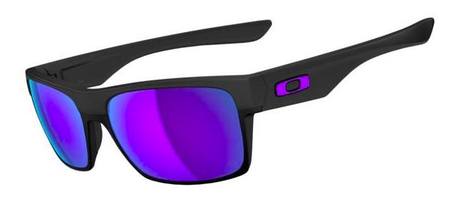 New! $250 Oakley Two Face SKU# OO9189-08 Matte Black/Violet Iridium