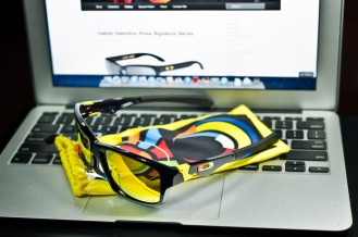 $250 Oakley Jupiter Squared Valentino Rossi Signature Series SKU# OO9135-11 Polished Black/Fire Iridium