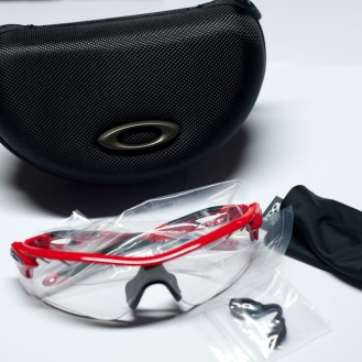 Everything inside a RadarLock Path Photochromic. Notice the absence of an extra lens