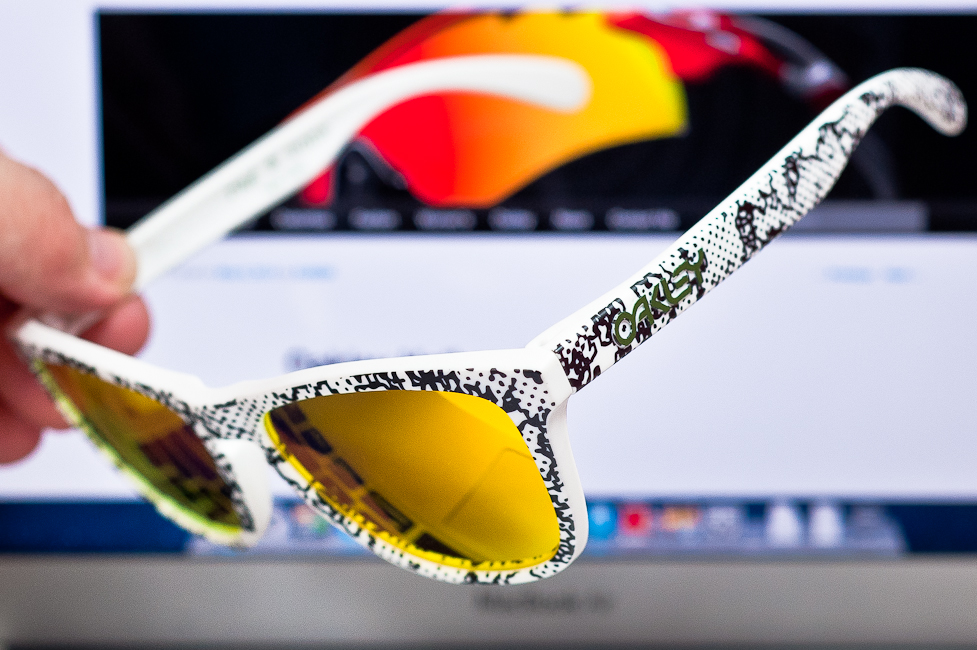 Side View Rag & Bone x Oakley Frogskins SKU# undefined Colab Limited Edition 1/150  production run.