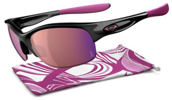 $280 Oakley COMMIT® SQ BREAST CANCER AWARENESS EDITION SKU# 24-330 Color: Polished Black/G30 Iridium
