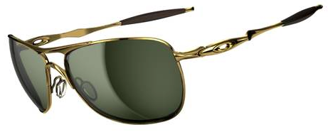 $250 Oakley CROSSHAIR® SKU#OO4060-01 Color: Polished Gold/Dark Grey