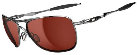 $260 Oakley CROSSHAIR® SKU# OO4060-02 Color: Polished Chrome/VR28 Black Iridium