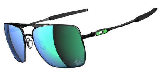 Oakley MOTOGP DEVIATION™ SKU# OO4061-13 Color: Polished Black/Jade Iridium