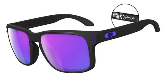 $250 Oakley JULIAN WILSON SIGNATURE SERIES HOLBROOK™ SKU# OO9102-26 Color: Matte Black/Violet Iridium