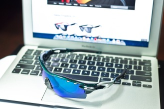 top of Oakley RadarLock Mark Cavendish Signature Series Path detailed view