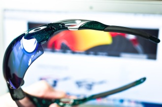 color scheme and detail of Oakley RadarLock Mark Cavendish Signature Series Path