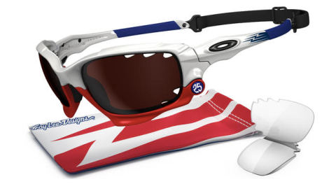 Oakley TROY LEE SIGNATURE SERIES RACING JACKET® SKU# OO9171-22 Color: Polished White/VR28 Black Iridium Vented & Clear Vented