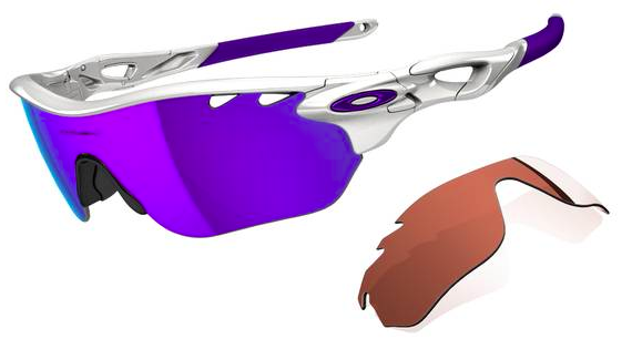$390 RADARLOCK™ EDGE SKU# OO9183-06 Color: Polished White/Violet Iridium Vented & VR28 Vented