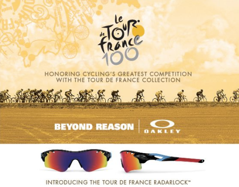 Tour De France Oakley RadarLock Advert