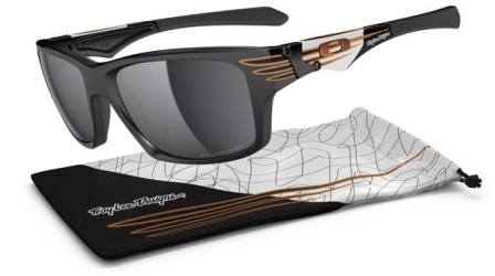 Oakley TROY LEE SIGNATURE SERIES JUPITER® SQUARED SKU# OO9135-16 Color: Polished Black/Black Iridium Polarized