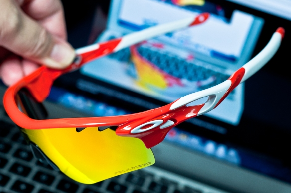 POLARIZED RADARLOCK™ PATH SKU# OO9181-24   Color: Blood Orange/Fire Iridium Polarized Vented/ Black Iridium Vented