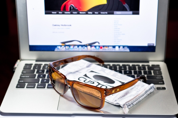 SGD$250 Custom Holbrook Dark Amber with bronze Polarized Lens