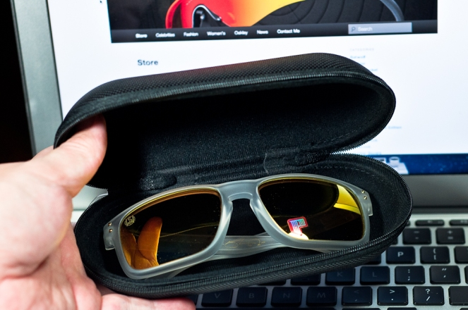 Large Oakley Case with Oakley Holbrook inside