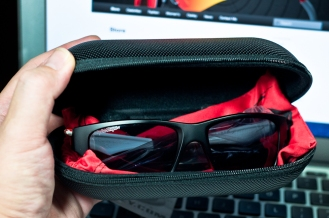 Large Oakley Case with Oakley Jupiter Squared inside