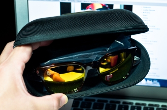Oakley Large Case with Oakley Garage Rock inside