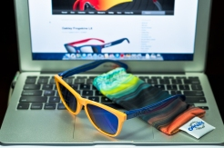 LIMITED EDITION FROGSKINS® AQUATIQUE COLLECTION SKU# 24-362 Color: Drop Off/Blue Iridium