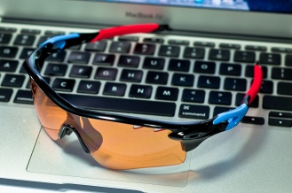 Oakley RadarLock Path Persimmon lens on RadarLock Tour de France RADARLOCK™ PATH™ REPLACEMENT LENSES SKU# 43-543 Color: Persimmon Vented