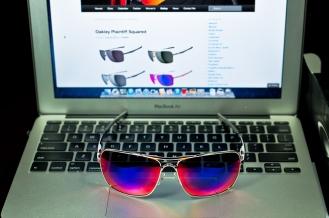 PLAINTIFF™ SQUARED SKU# OO4063-07 Color: Polished Chrome/Positive Red Iridium