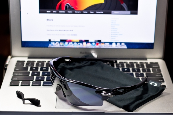SGD$290 Oakley Custom RadarLock by wahliao.com Singapore Color: Stealth Black on Black/Black Iridium. Purpose: For athletes and cyclists, bright afternoon Singapore sun Set as pictured.
