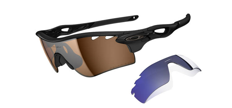 $500 POLARIZED RADARLOCK™ PATHSKU# OO9181-25Color: Polished Black/Bronze Polarized Vented & Deep Blue Polarized Vented
