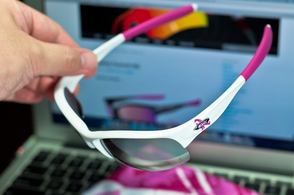 black and blue oakley sunglasses wseu  COMMIT庐 SQ BREAST CANCER AWARENESS EDITION SKU# 24-176 Color: Polished White