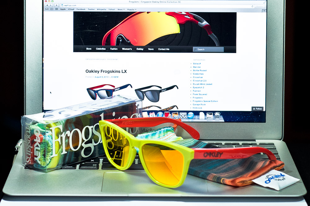 LIMITED EDITION FROGSKINS® AQUATIQUE COLLECTION SKU# 24-361 Color: Lagoon/Fire Iridium